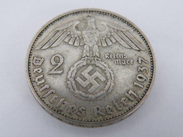 2 Reichsmark Duitsland zilver Mark