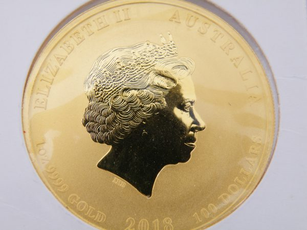 1 Oz gouden munt Lunar 2018 the year of the dog Australië