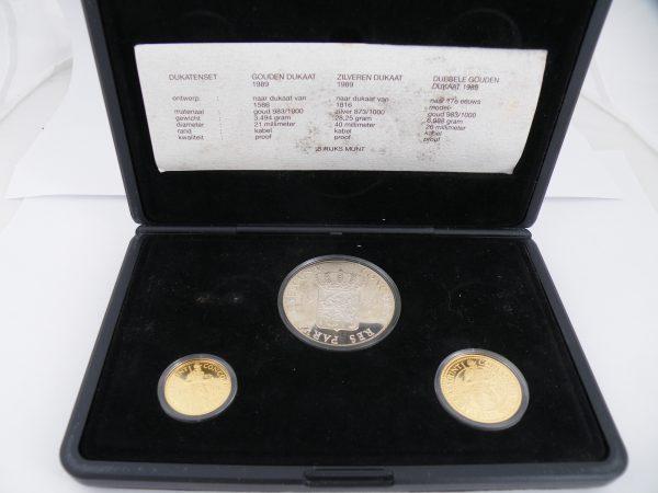 Dukaten set 1989 goud en zilver