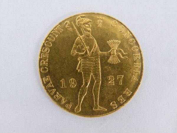 Gouden enkele dukaat 1927