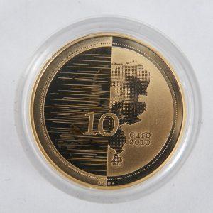 Gouden tientje € 10 tien euro Waterland tientje