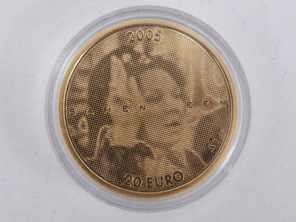 Gouden € 20 jubileum munt Beatrix 25 jaar goud