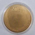 Gouden € 20 geboortemunt Amalia 20 euro