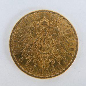 20 Mark goud Duitsland 1894