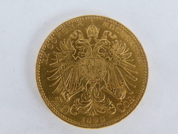 20 Corona goud Oostenrijk 1898
