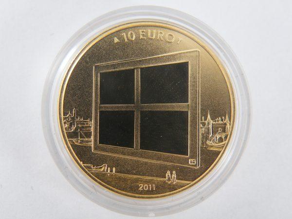 Gouden tientje € 10,- schilderskunst 2011