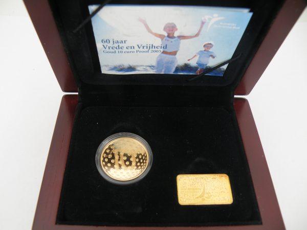 Gouden tientje € 10,- Vredestientje 2005