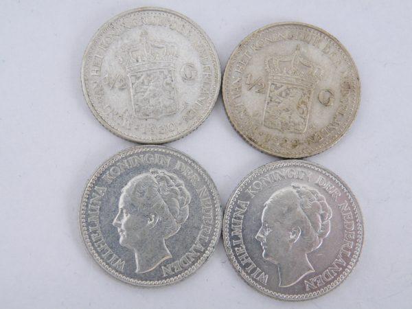 Zilveren halve gulden Wilhelmina