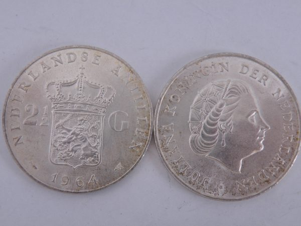 Zilveren rijksdaalder Nederlandse Antillen Juliana