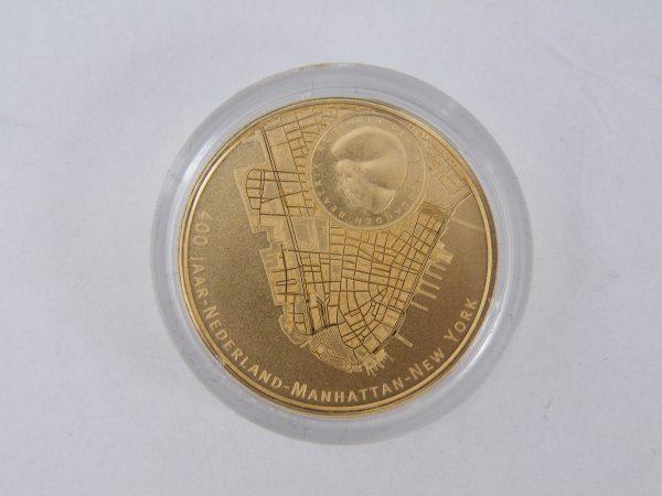 Gouden € 10 tientje tien euro Manhattan