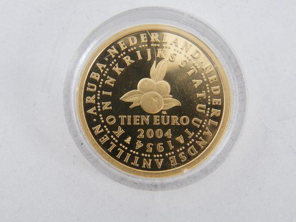 Gouden € 10 tientje tien euro Koninkrijksmunt