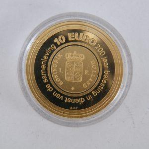 Gouden € 10 tientje tien euro belastingtientje