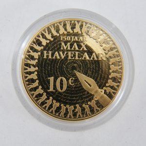 Gouden € 10 tientje tien euro Max Havelaar