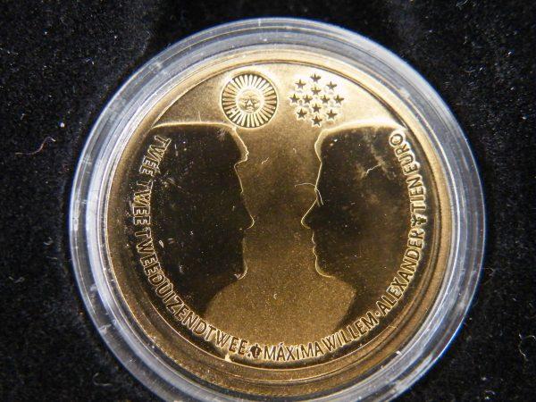 Huwelijksset 2002 Willem en Maxima € 10 goud en zilver