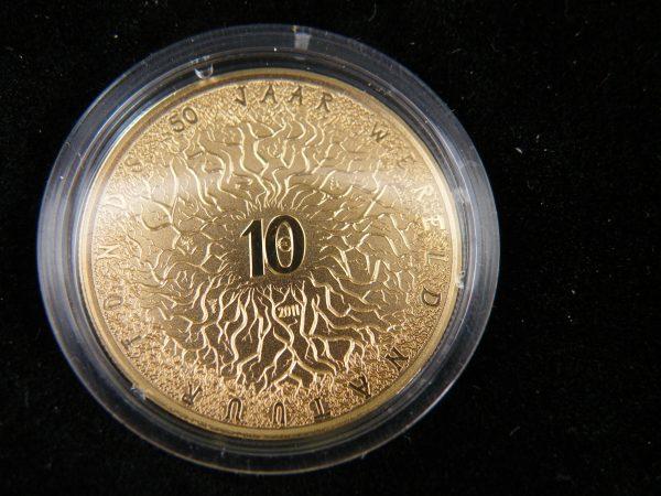 Gouden € 10 tientje 2011 wnf wereld natuur fonds