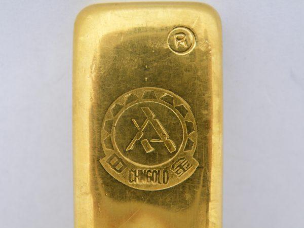 200 gram goudbaar China Chinees Zhongyuan gold CHNgold