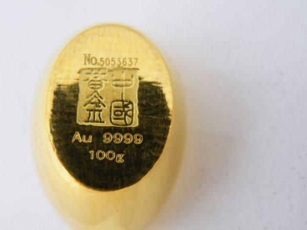 Chinese China goudbaar boot boat 100 gram