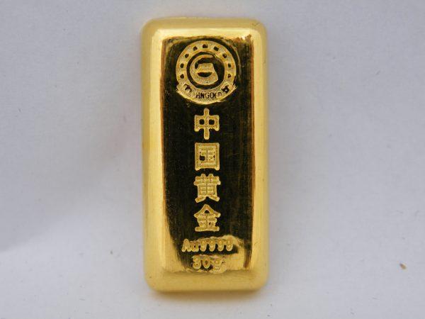 30 gram goudbaar China Chinees Zhongyuan gold CHNgold