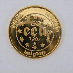 50 Ecu gouden munt 1/2 troy ounce goud