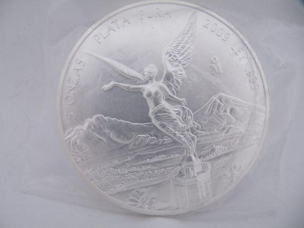 5 Oz troy ounce Libertad Mexico zilver