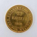 20 Markaa gouden munt Finland