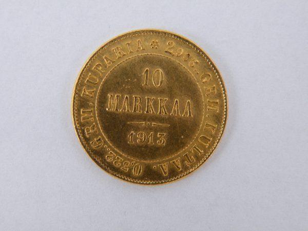 10 Markaa gouden munt Finland