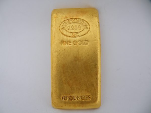 10 Oz troy ounces goudbaar Johnson Metthey