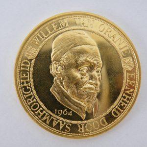 gouden penning Willem van Oranje 1964 Eenheid door saamhorigheid
