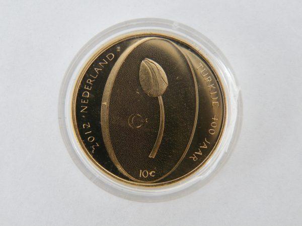 Gouden tientje € 10 tulpen tientje gouden munt
