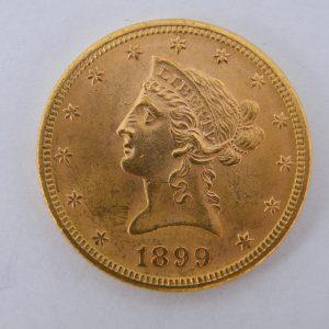 Gouden $ 10 USA 1899 gouden munt