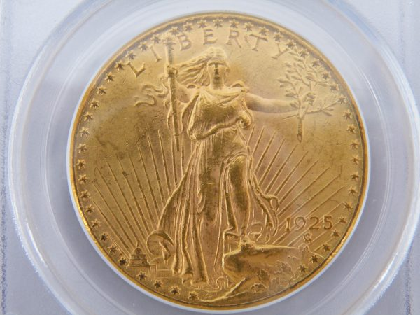 $ 20 Liberty twenty dollars gouden munt in slab 1925