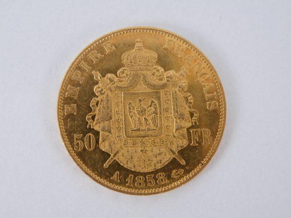 Gouden 50 Francs Frankrijk 1858