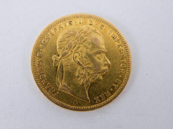 Gouden 8 Florin 20 Francs Oostenrijk