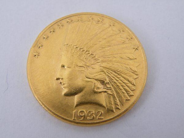 Gouden $ 10 ten dollars indian head