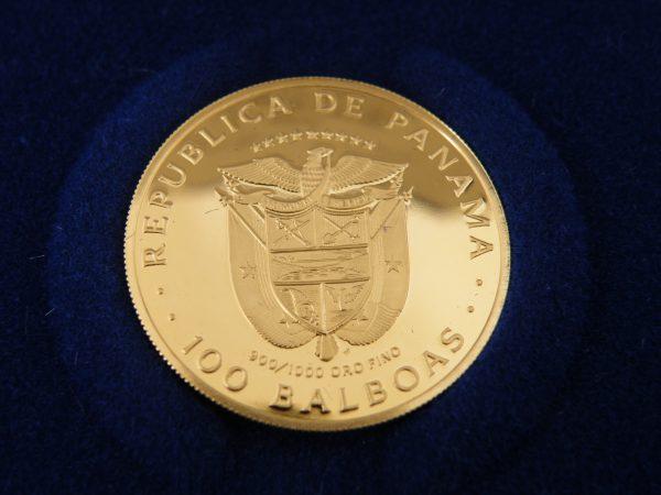 100 Balboa gouden munt Panama