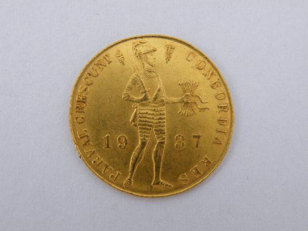 Gouden enkele dukaat 1937