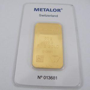 Goudbaar 50 gram Metalor