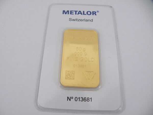 Goudbaar 50 gram Metalor