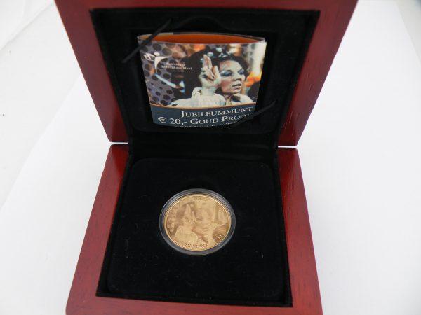Gouden € 20 jubileummunt Beatrix 2005