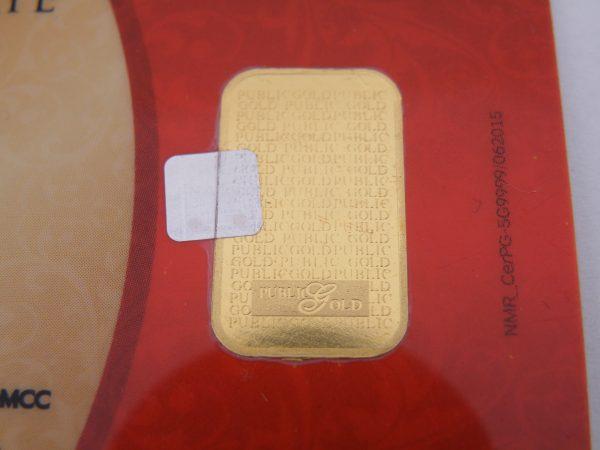 Nadir metal refinery 5 gram goudbaar