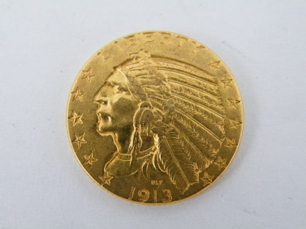 Indian head $ 5 dollar gouden munt
