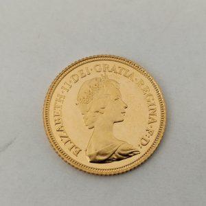 gouden halve sovereign Elizabeth