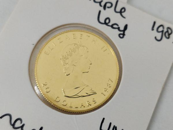 Gouden 1/2 oz Maple leaf gouden munt