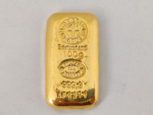 Goudbaar 100 gram Argor Chiasso