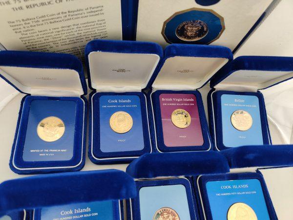 Set Franklin munt gouden munten