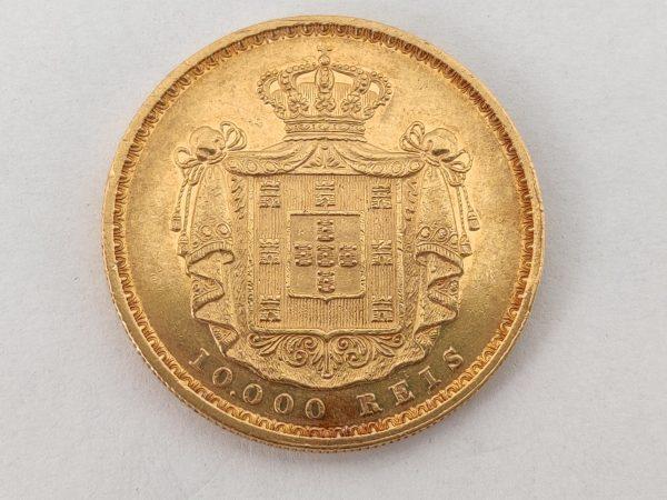 Gouden 10.000 Reis Portugal munt