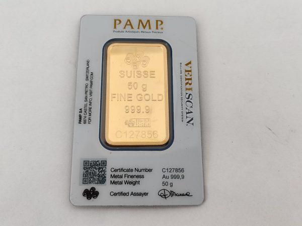 Goudbaar 50 gram Pamp Suisse